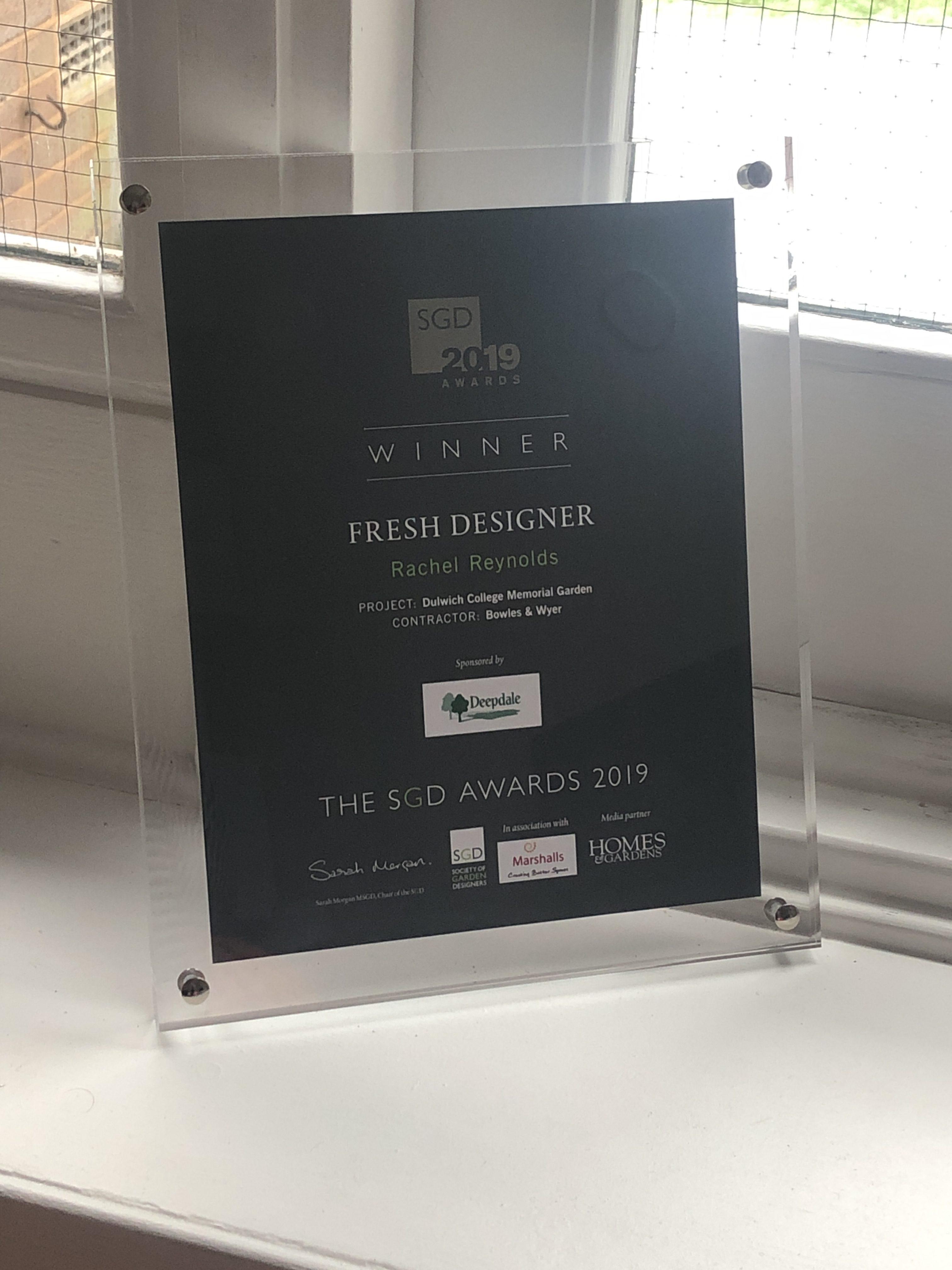 SGD Fresh Designer of the Year 2019